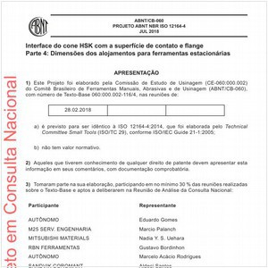 Visualizar: Projeto ABNT NBR ISO 12164-4
