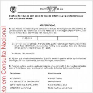 Visualizar: Projeto ABNT NBR ISO 4202