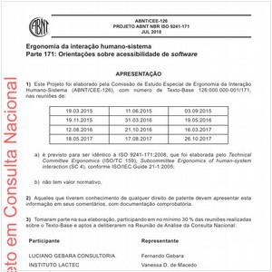 Visualizar: Projeto ABNT NBR ISO 9241-171
