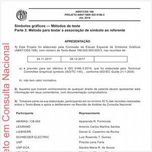Visualizar: Projeto ABNT NBR ISO 9186-3