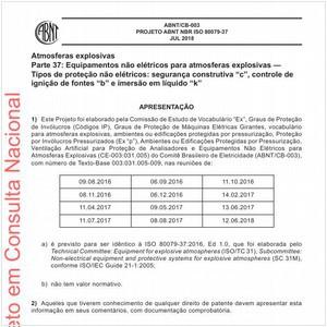 Visualizar: Projeto ABNT NBR ISO 80079-37