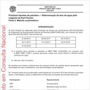 Visualizar: Projeto ABNT NBR 11348-2
