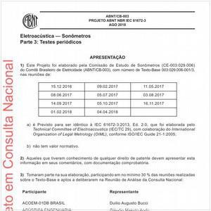 Visualizar: Projeto ABNT NBR IEC 61672-3