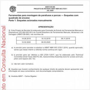 Visualizar: Projeto de Revisão ABNT NBR ISO 2725-1