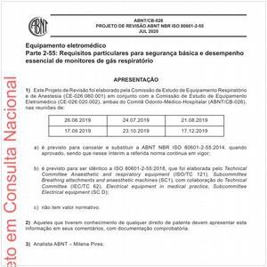 Visualizar: Projeto de Revisão ABNT NBR ISO 80601-2-55