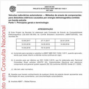 Visualizar: Projeto de Revisão ABNT NBR ISO 11452-1