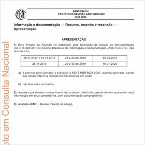 Visualizar: PROJETO DE REVISÃO ABNT NBR 6028
