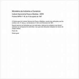 Visualizar: Portaria INPM/MIC 48:1967 - Situação: Revogado