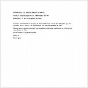 Visualizar: Portaria INPM/MIC 1:1968 - Situação: Revogado