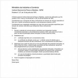 Visualizar: Portaria INPM/MIC 27:1970 - Situação: Revisto
