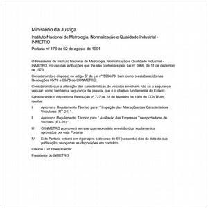 Visualizar: Portaria INMETRO/MJ 173:1991 - Situação: Revisto