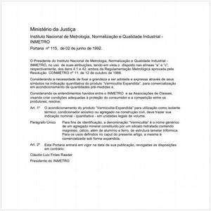 Visualizar: Portaria INMETRO/MJ 115:1992 - Situação: Em vigor