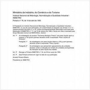 Visualizar: Portaria INMETRO/MICT 76:1993 - Situação: Em vigor