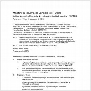 Visualizar: Portaria INMETRO/MICT 175:1993 - Situação: Em vigor