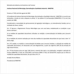 Visualizar: Portaria INMETRO/MICT 199:1993 - Situação: Revisto