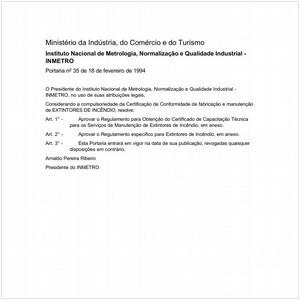 Visualizar: Portaria INMETRO/MICT 35:1994 - Situação: Revogado