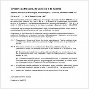 Visualizar: Portaria INMETRO/MICT 113:1997 - Situação: Revisto