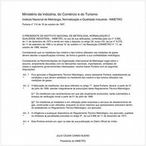 Visualizar: Portaria INMETRO/MICT 114:1997 - Situação: Revisto