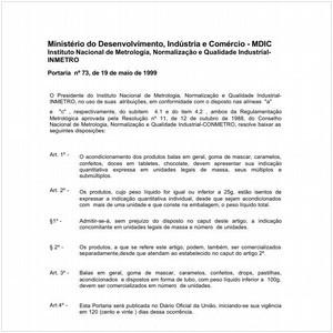 Visualizar: Portaria INMETRO/MDIC 73:1999 - Situação: Em vigor