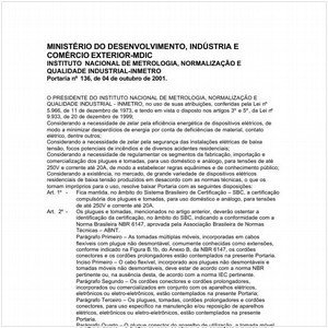 Visualizar: Portaria INMETRO/MDIC 136:2001 - Situação: Revisto